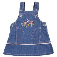 Tillu Pillu Baby Girl's Dungree - Blue