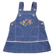 Tillu Pillu Baby Girl's Dungree - Blue