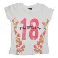 Max Half Sleeve T-Shirt With Print White